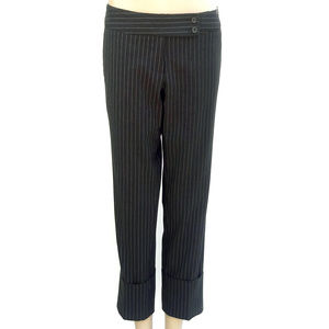 The Limited Black and White Pinstripe Pants